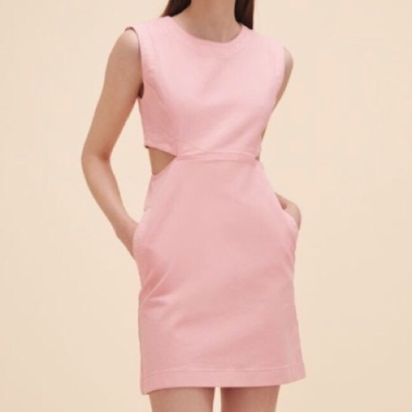 Maje Rousseau Denim Chic Cut-Out Dress